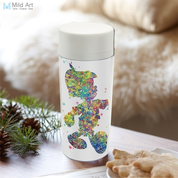 Modern Plastic Insulated Watercolor Animated Pinocchio Water Bottles 300ml Gift BPA Free Personalized Wide Mouth Kids Drinkware winnie the pooh iphone case