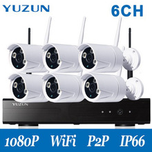 Wireless CCTV System 1080P NVR Kit 6CH 2.0MP IP Camera Wifi Waterproof Outdoor P2P Home Video Security System Surveillance Kits