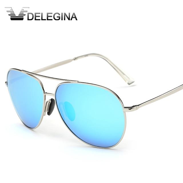 166a636551ea DELEGINA 2017 антибликовые поляризационные солнцезащитные очки для женщин  авиации Военная Униформа унисекс зеркальные очки вождения