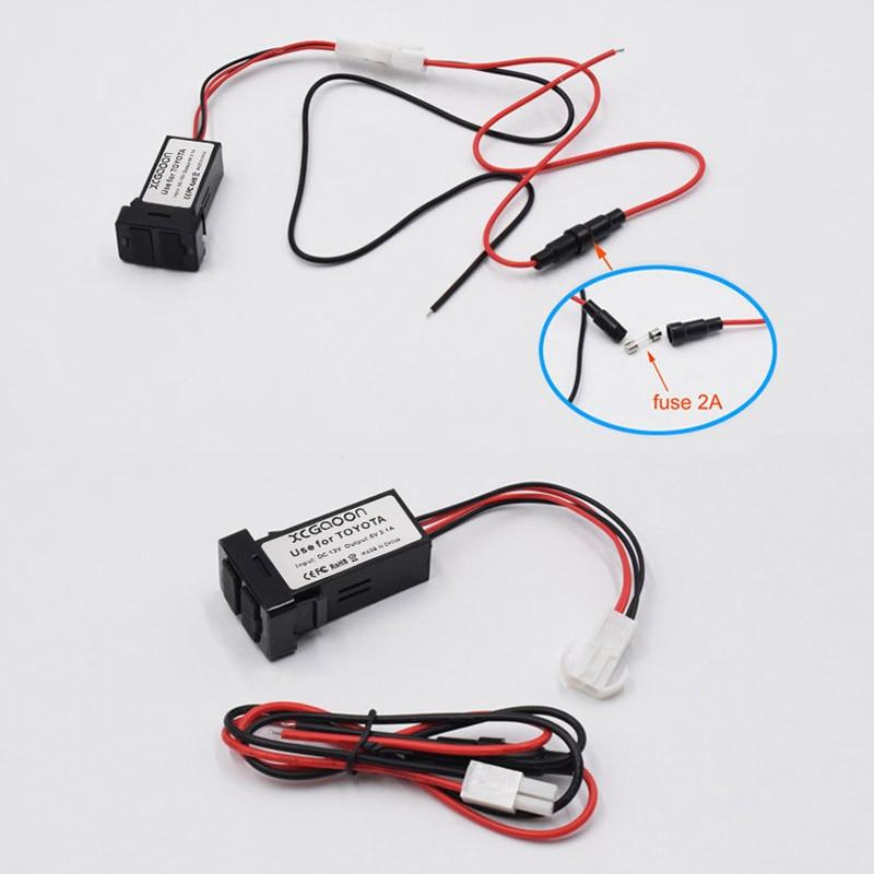XCGaoon Special 2.1A 2 USB միջերեսային - Ավտոմեքենաների էլեկտրոնիկա - Լուսանկար 6