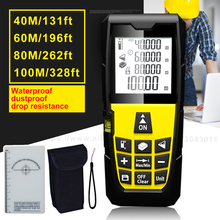 Laser Rangefinders Area Volume Distance Pythagoras Portable Laser Distance Measurer 40m 131ft 60m 196ft 80m 262ft