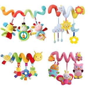 Image 2 - חינוכיים תינוק רעשנים מוביילים בעלי החיים ספירלת רעשנים צעצועי תינוק עגלת מיטת פעמון מיטת תינוק משחק עגלת תליית צעצועים