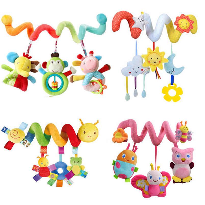 Eğitici bebek çıngıraklar cep telefonları hayvan Spiral çıngıraklar oyuncaklar bebek arabası yatak çan yatak bebek oyun arabası askılı oyuncaklar
