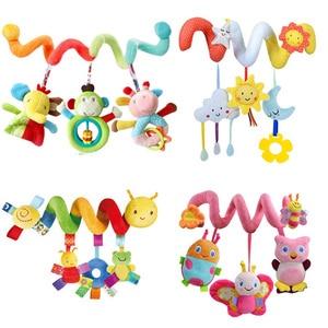 Image 2 - Hochets Mobiles éducatifs pour bébés, jouets éducatifs pour bébés, hochets en spirale, animaux, pour poussette, cloche de lit pour bébé