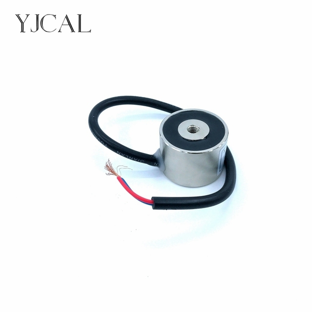 YJ-34/25 Holding Electric Sucker Electromagnet Magnet Dc 12V 24V Suction-cup Cylindrical Lifting 20KG Gallium Metal China