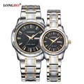 Top Luxury Brand LONGBO Lovers Watches Men Women Dress Casual Watch Men Waterproof Stainless Steel Quartz-Watch Relogio 80159