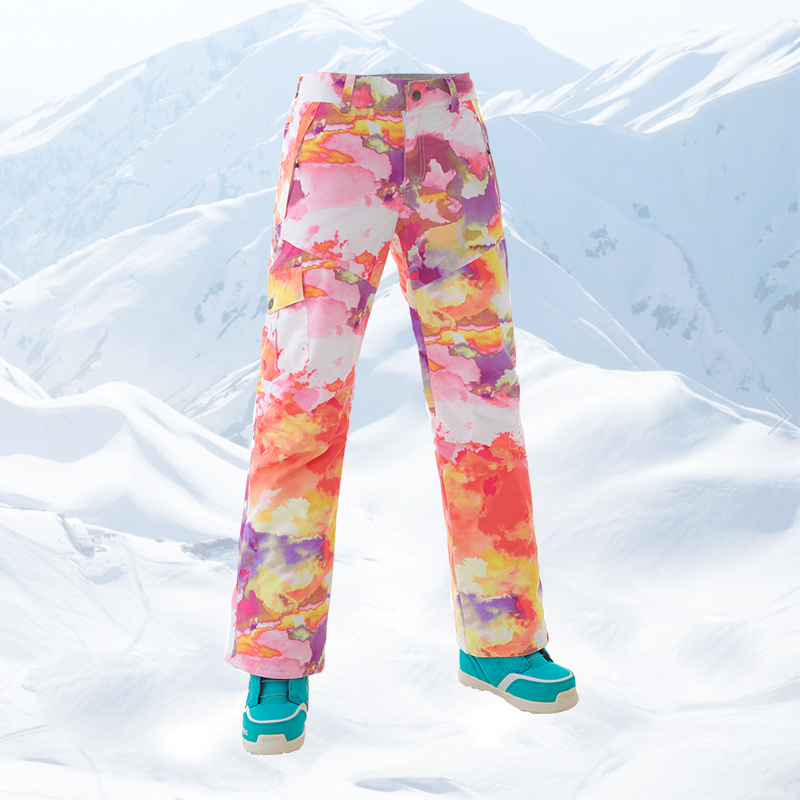 GS cool colorful ski pants women wintersport snowboard snow pants warm skiing trousers pantalones esqui pantalon ski femme in Skiing Pants from Sports Entertainment