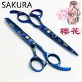 5.5Inch 6 Inch Sakura Professional Hairdressing Scissors Cutting Thinning  Scissors Barber shears Blade Styling Tools