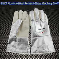 EN407 High Temperature flame resistant Aluminized Welding Gloves Oven gloves Heat resistant gloves