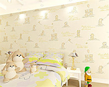 beibehang Cute fashionable personality animal child room 3d wallpaper girl boy bedroom pressed nonwoven papier peint
