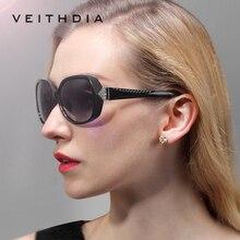 Veithdia марка женщины моды большой негабаритных солнцезащитные очки поляризованные солнцезащитные очки женские vintage óculos de sol feminino для женщин v7011
