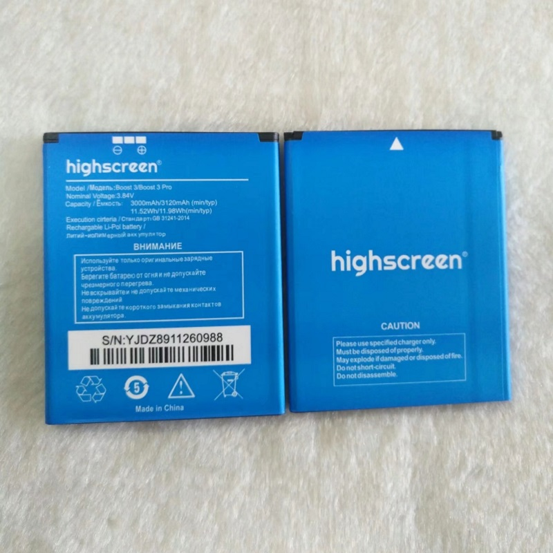 Highscreen Boost 3 3000mAh Mobile Replacement Li-ion Polymer Battery Bateria for Highscreen Boost 3 Pro Batterie Accumulator
