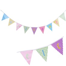 Colorful Welcome Banner Back to School To The Party Bunting Baby Shower Birthday Wall Hanging Decor
