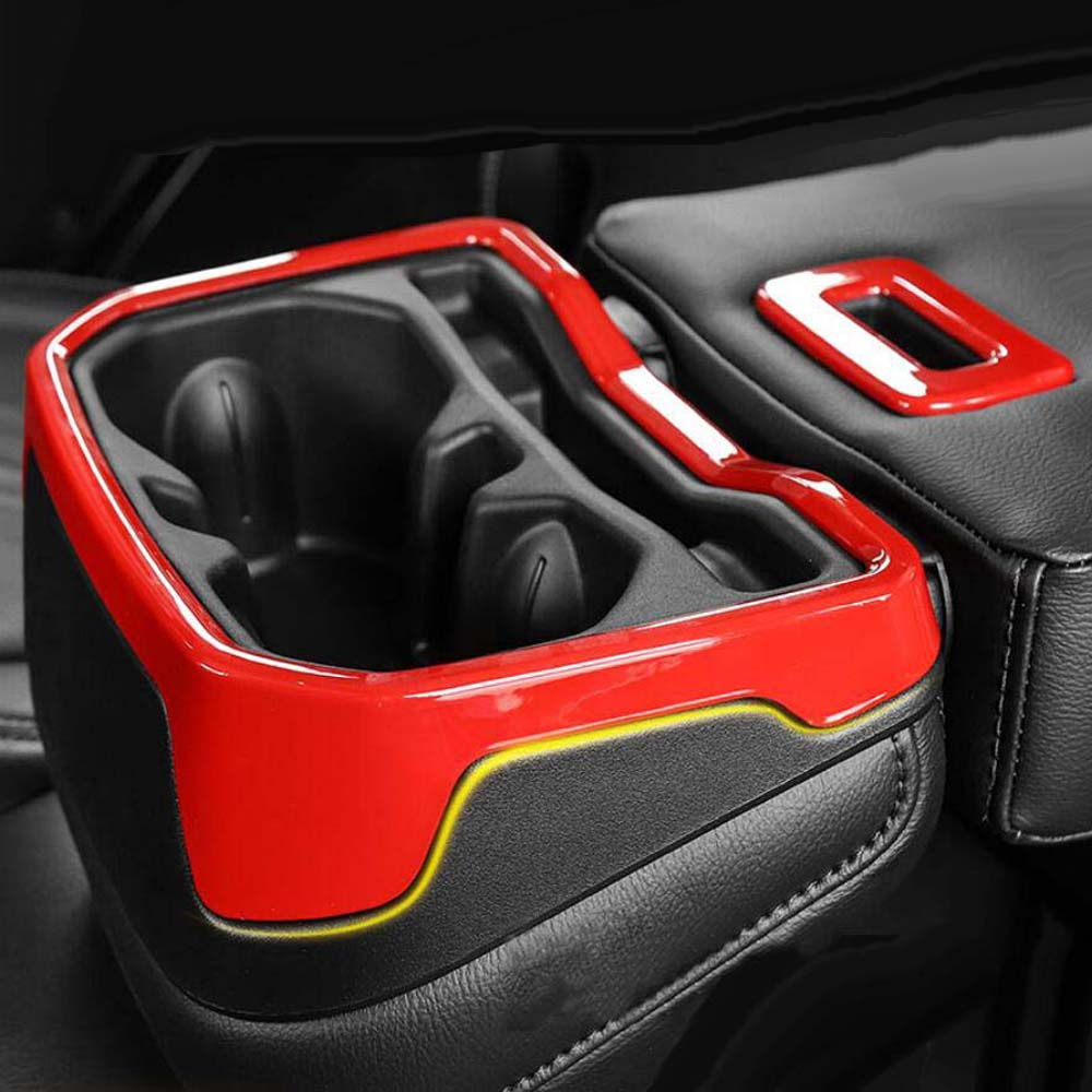 red ABS Rear Row Water Holder Frame Cover Trim for Jeep Wrangler JL 2018 2019