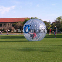 Free Shipping 1.0mm TPU Inflatable Body Zorb Ball, 3m Diameter Good Price Inflatable Human Bowling For Rental Business
