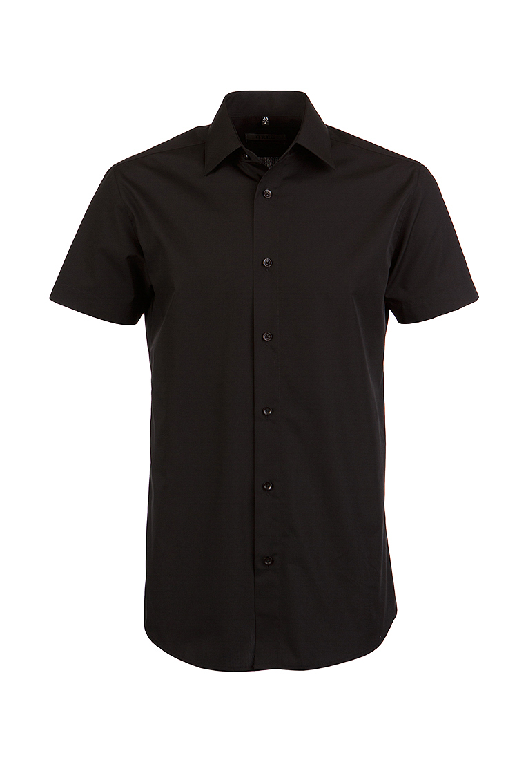 Shirt men's short sleeve GREG 340/309/BLK/ZV Black