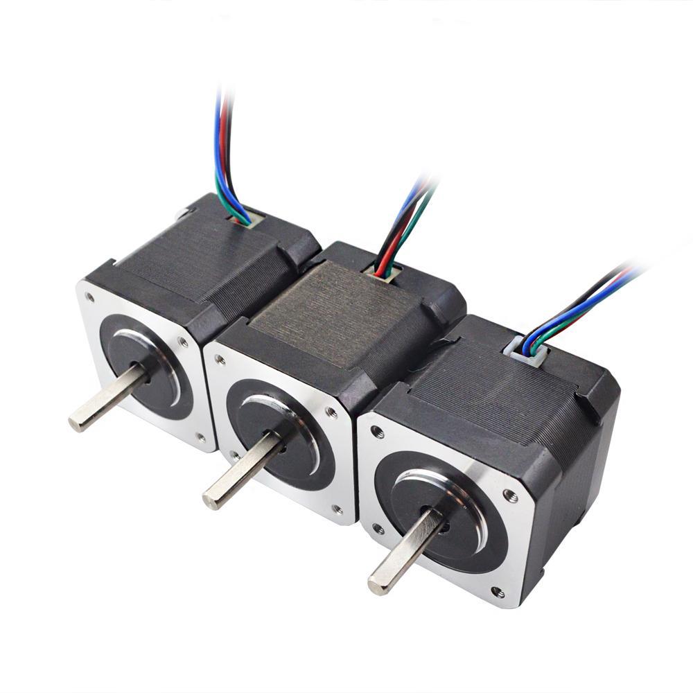 Nema 17 moteur pas à pas 42 Étape kit de moteur avec Plein D-L'arbre coupé pour BLV mgn Cube 3D Imprimante