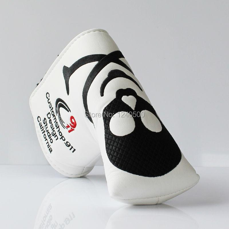 Два Цвета Череп PU Гольф шлем для лезвия Гольф клюшки бесплатная доставка