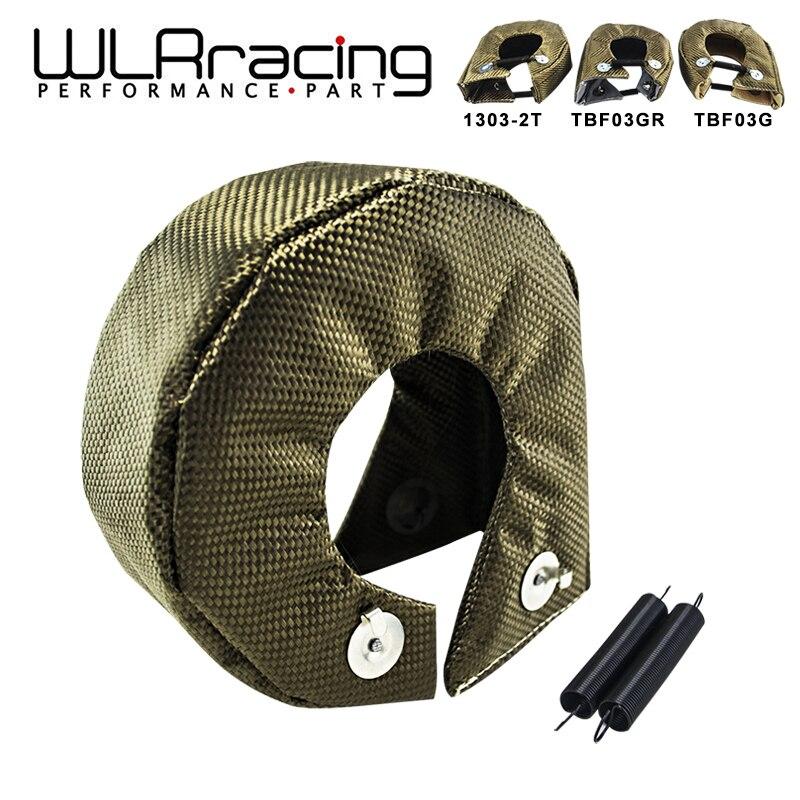 WLR - 100% Full TITANIUM T3 turbo blanket turbo heat shield fit : t2 t25 t28 gt28 gt30 gt35 and most t3 turbo WLR1303-2T/TBF03