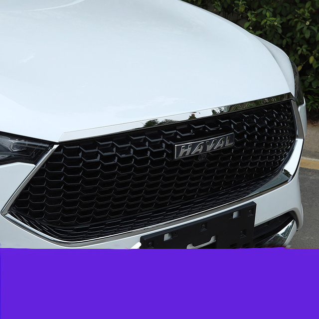 Edelstahl Motor Trim Chrome Hood Schutz 1 teile/satz Für Great Wall Havel F7 2019 2020