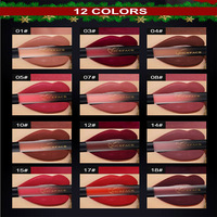 NICEFACE 12PCS/set Liquid Matte Lipstick Cosmetics Makeup Nude Lip Lipsticks Metallic Lip Gloss Stick Make up Lips Lipgloss