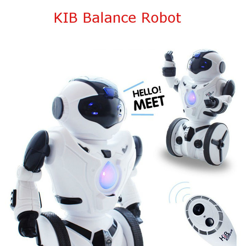 цена New JXD1016a KiB Remote Control RC Robot Intelligent Balance Wheelbarrow Dance Drive Gesture Battle Action Electric Toy cs TT313