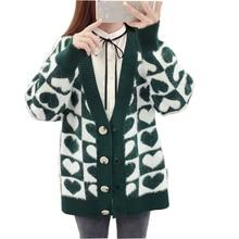 цены на Cardigan Sweater Women Spring Autumn 2019 Women's Knit Jacket Loose Sweater Coat Plus Size  в интернет-магазинах