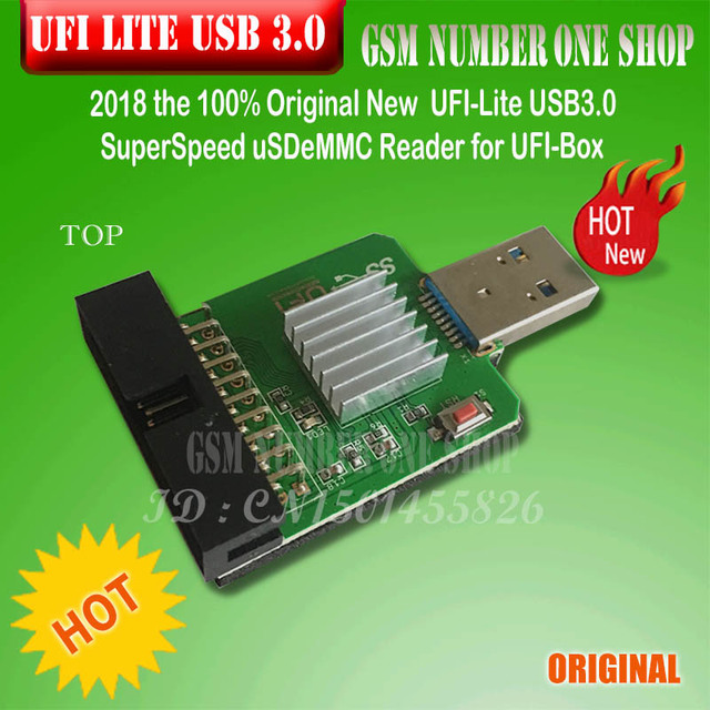 ORIGINAL NOVO SuperSpeed UFI Lite USB3.0 uSD/Leitor eMMC para UFI Box