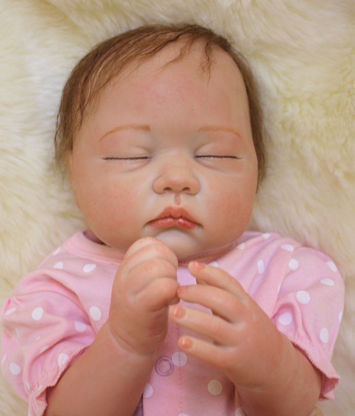 все цены на Soft Body Silicone Reborn Baby Dolls Toy Lifelike Exquisite Sleeping Newborn Girls Babies Birthday Gift Present Collectable Doll