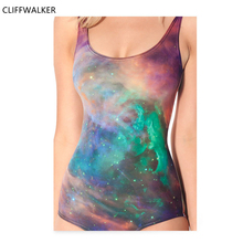 592bdd7d503b Dropshipping Summer Autumn Universe Galaxy 3D Print Swimsuit Beachwear For  Woman s Casual Sexy Bathing Suits jumpsuit