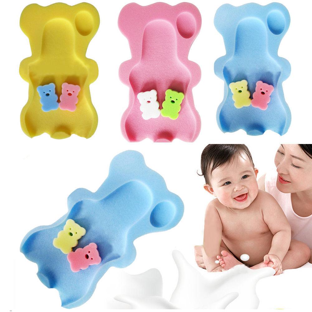 Kids Baby Body Support Cartoon Non slip Bath Sponge Mat Safety ...