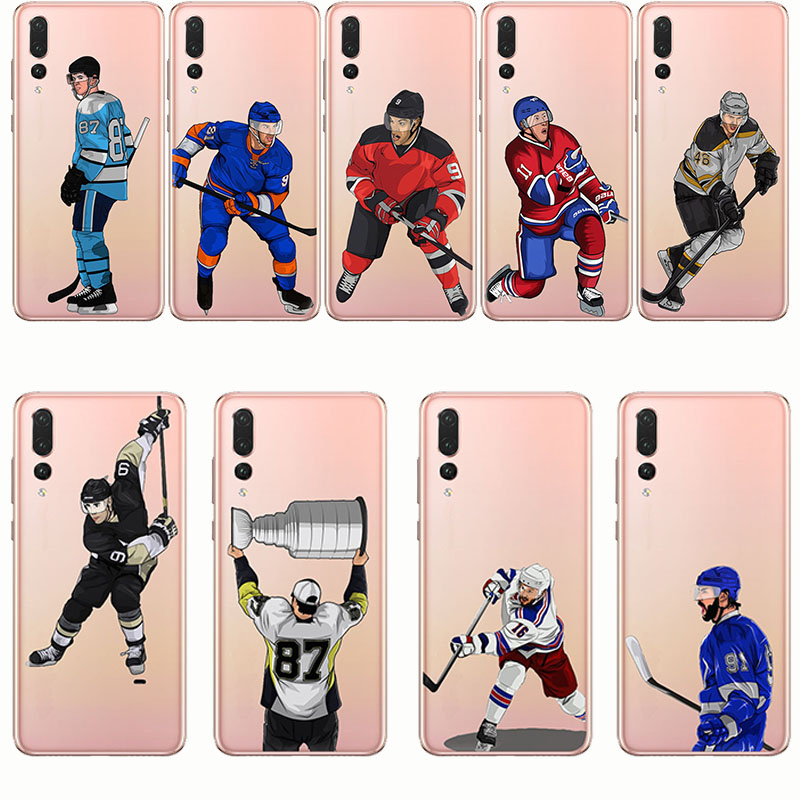 Cartoon Sport Ice Hockey Capinha Coque Soft Silicone Phone Cases Cover for huawei p9 p10 p20 lite plus pro p8 in Fitted Cases from Cellphones Telecommunications