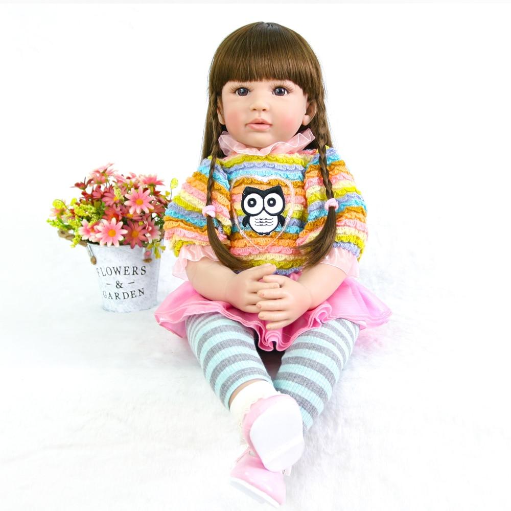 Brave 55cm Princess Reborn Girls Doll Girls Holiday Birthday Christmas Gift Brinquedos Reborn Baby Doll Kids Playmetas Action Figures 100% Guarantee Toys & Hobbies