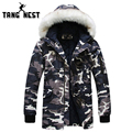 TANGNEST 2017 Hooded With Fur New Arrival Long Style Warm Men's Slim Fit Parka Outwearing New Young Asian Size Parka MWM1415