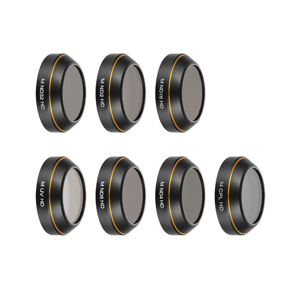 UV/CPL/ND4/ND8/ND16/ND32/STAR Lens Filter Set Circular Polarizer Density Filters Camera Lens Filter Set for DJI MAVIC Pro Filter