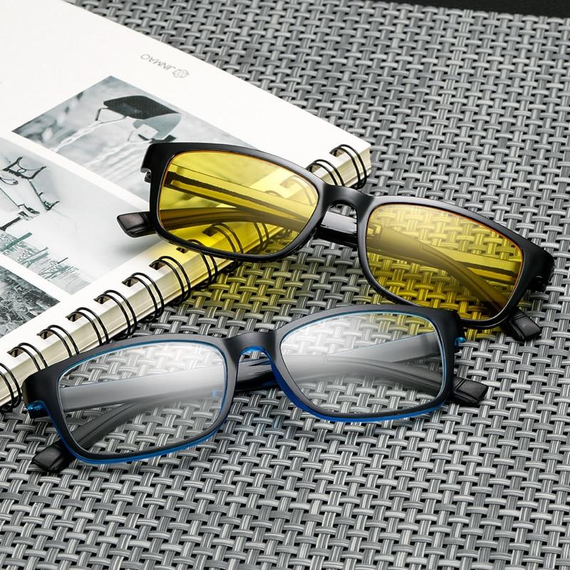 Long Keeper Men Womens Square Eyeglasses Clear & Night Vision Lens Unisex Glasses Frame Men Driving Googles gafas de grau