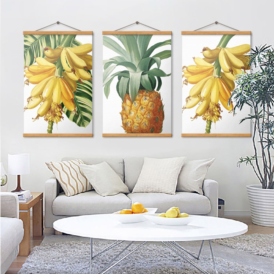 Nordic Simple Banana Pineapple Fruit Painting Fresh Canvas Prints for Kitchen Decoration Wall Art Poster Modular Picture in Painting Calligraphy from Home Garden