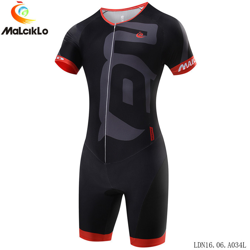 Malciklo Men Triathlon Cycling Jersey Skinsuit MTB Bike Jersey Running Swimming Ropa De Ciclismo Maillot Clothes Suit