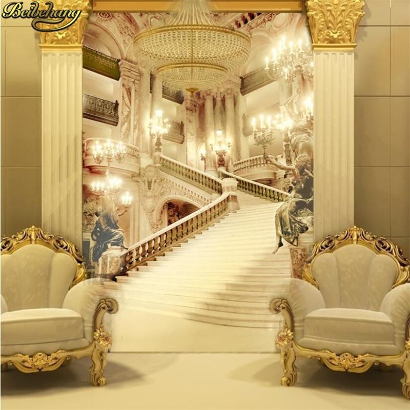 Beibehang personalizado europeu opera hall foto murais papel de parede para sala estar sofá quarto 3d papéis decoração da sua casa