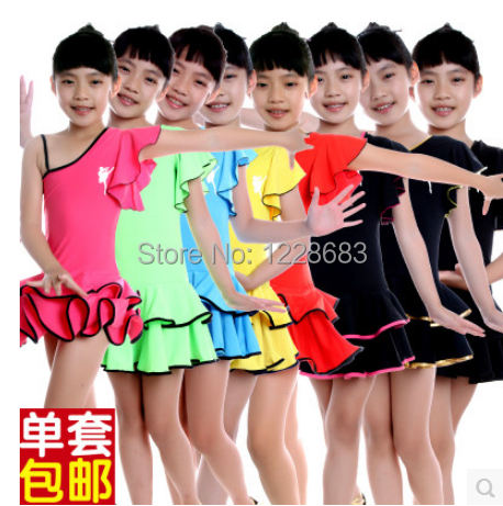 Unequal Summer Robe Danse Latine Danca Latino Dress Latina Cheap Latin Dance Dress For Girls