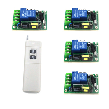 New Wireless Remote Control Light Lamp Switch 1 Set Remote Control Switch Wireless 1 Controller with 4 Receiver 4138