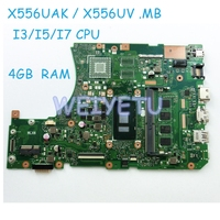 X556UAK XB._4G/I3/I5/I7CPU/AS Motherboard for ASUS For ASUS X556UA X556UJ X556UV laptop GM Motherboard 90NB09S0 R00050 Mainboard