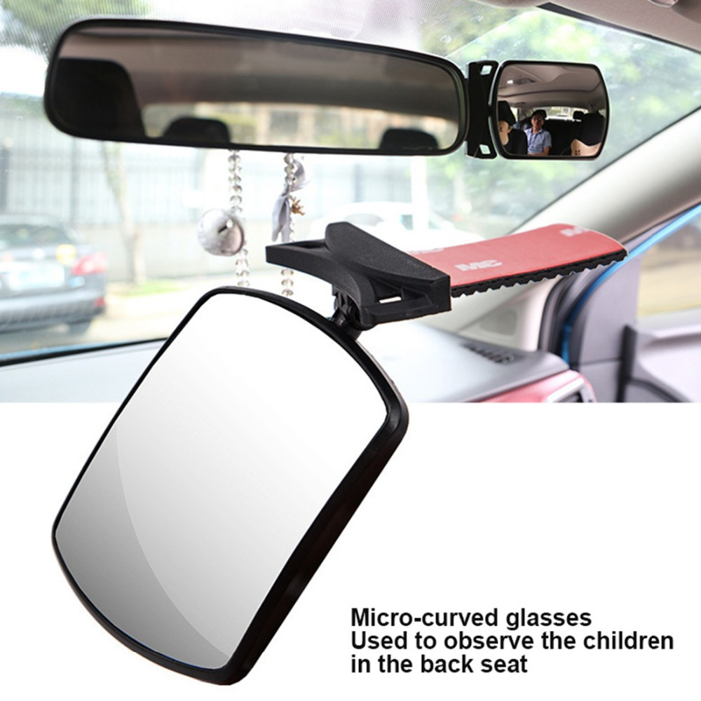 1pcs Adjustable Wide Angle Curved Surface Mirror 360 Degree Rotation Car Interior Rear View Mirror Wide Baby Kid Safety Care in Interior Mirrors from Automobiles Motorcycles