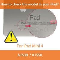 retina ipad For iPad Mini Retina 100% Original BGR Brand Sleep/Wake Up Fold Stand Leather Case Smart Cover For iPad Mini 1 2 3 Retina  (2)