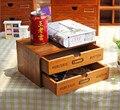 Деревянный ящик для хранения  домашний косметический ящик для хранения  2 ящика  органайзер для хранения  офисный чехол для хранения космети...
