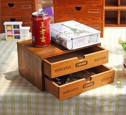 Drewniane szuflada domu pudełko do przechowywania kosmetyków 2 szuflada schowek organizator biurowe  co zrobić  jeśli futerał do przechowywania piórnik na artykuły piśmienne
