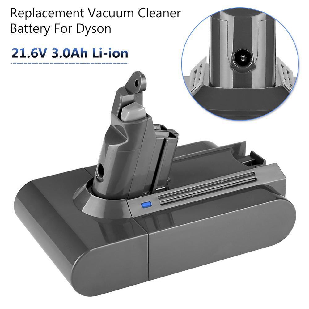 3000mAh 21.6V Li-ion Batterie Rechargeable pour Dyson V6 aspirateur DC58 DC59 DC61 DC74 DC62 animal SV03 SV05 SV06 SV07 SV09