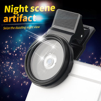 ZOMEi 37mm Easy Clip On 3 in 1 Professional Smart Phone Camera Star Cross Twinkle Filters Kit 4 Points + 6 Points and 8 Points