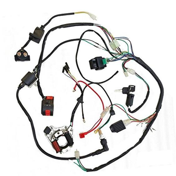 Mymotor Full Wiring Harness Loom Kit Cdi Coil Magneto Kick Start