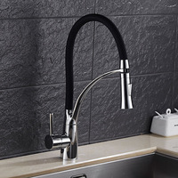 DONYUMMYJO Kitchen Faucet Pull Out Water Tap 3 Colors Available Mixer Faucet Deck Mounted Single Handle